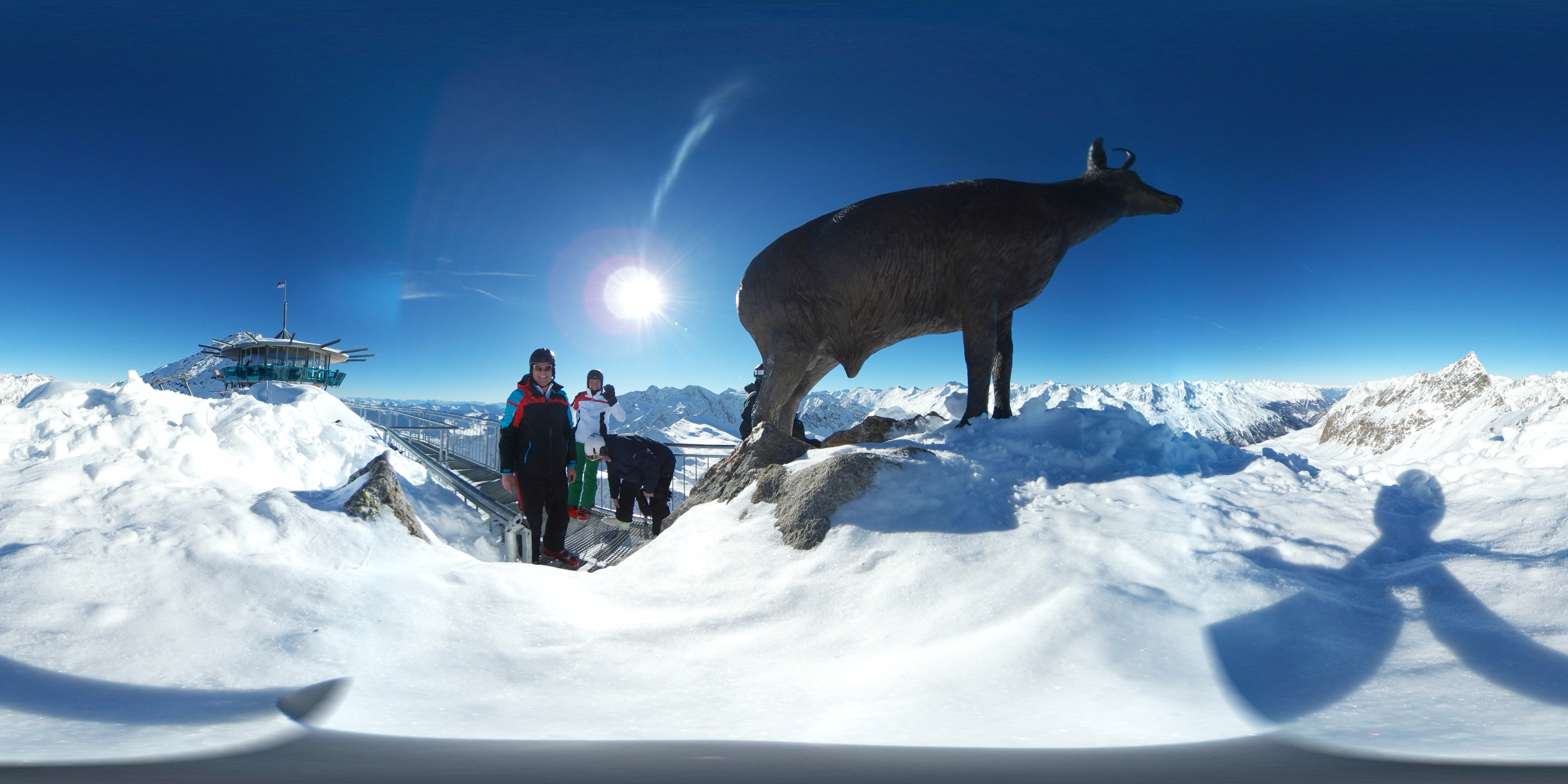 360 Grad Foto aus dem Skiurlaub