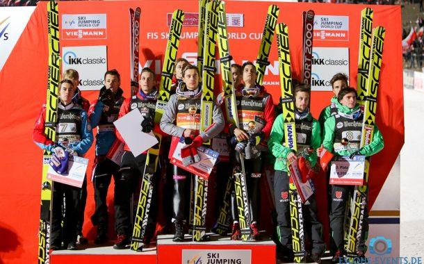 Polen gewinnt Team-Weltcup auf der Mühlenkopfschanze - DSV-Adler landeten vor 21.000 auf dem dritten Platz