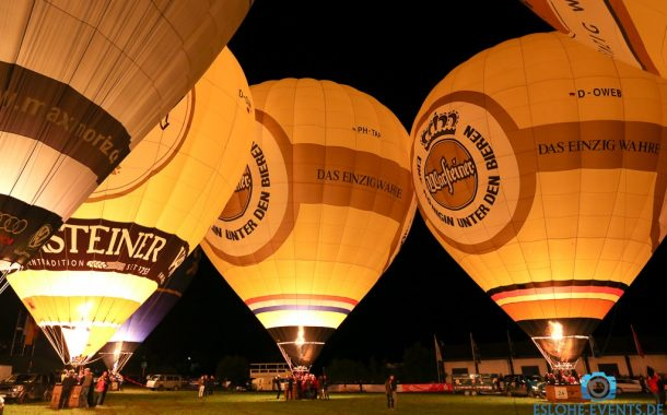 Kompletter Nightglow in 360 Grad Warsteiner Internationale Montgolfiade 02.09.2017