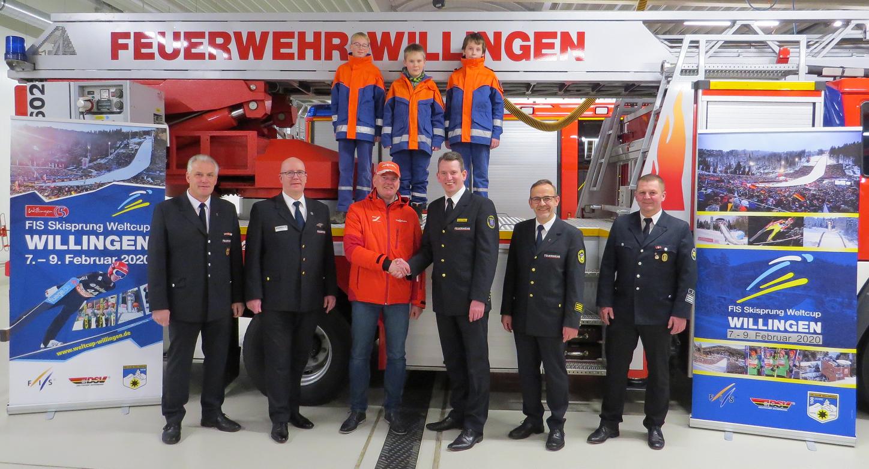 """Am 9. Februar 2020 an der Willinger Mühlenkopfschanze Zum zehnten Mal – """"Jubiläums-Feuerwehr-Sonntag"""" beim FIS Skisprung Weltcup"""